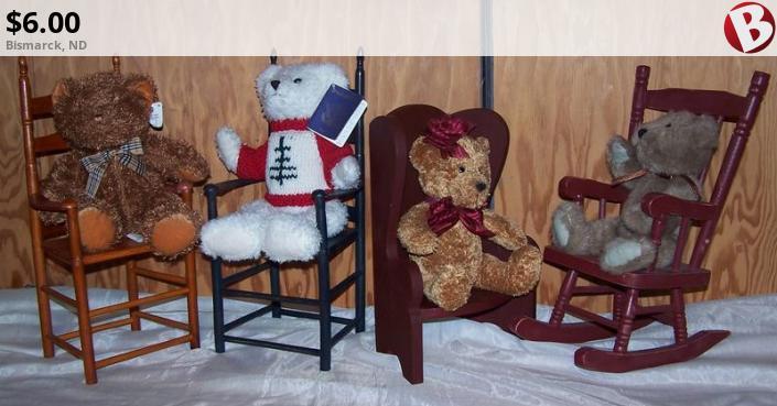 bears in a chair new bismarck nd classifieds