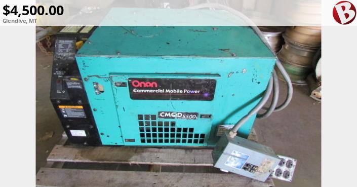 Onan CMQD 5500 mins Power Generator   Glendive, MT Onan Generator Hdkbb Wiring Schematic on