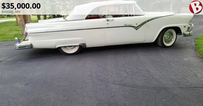 1955 ford sunliner convertible restored in 1976 excellent condition runs out grand rapids mn. Black Bedroom Furniture Sets. Home Design Ideas